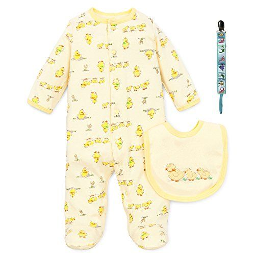 e5807b428 Neutral baby clothes make an ideal gift. Little Me Rubber Ducky Boy Girl  Footie Pajamas Bib Tether 3 Mth *** More info could be found at the image  url.