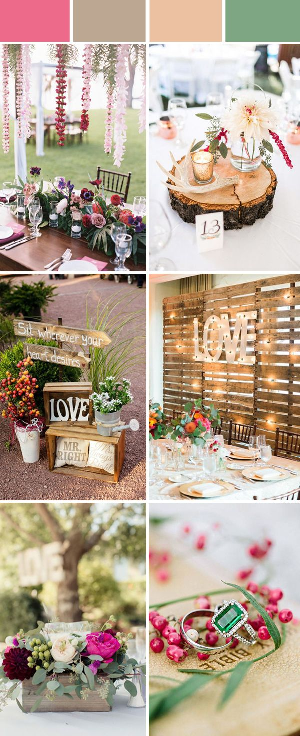 Top 10 Elegant and Chic Rustic Wedding Color Ideas | Rustic ...