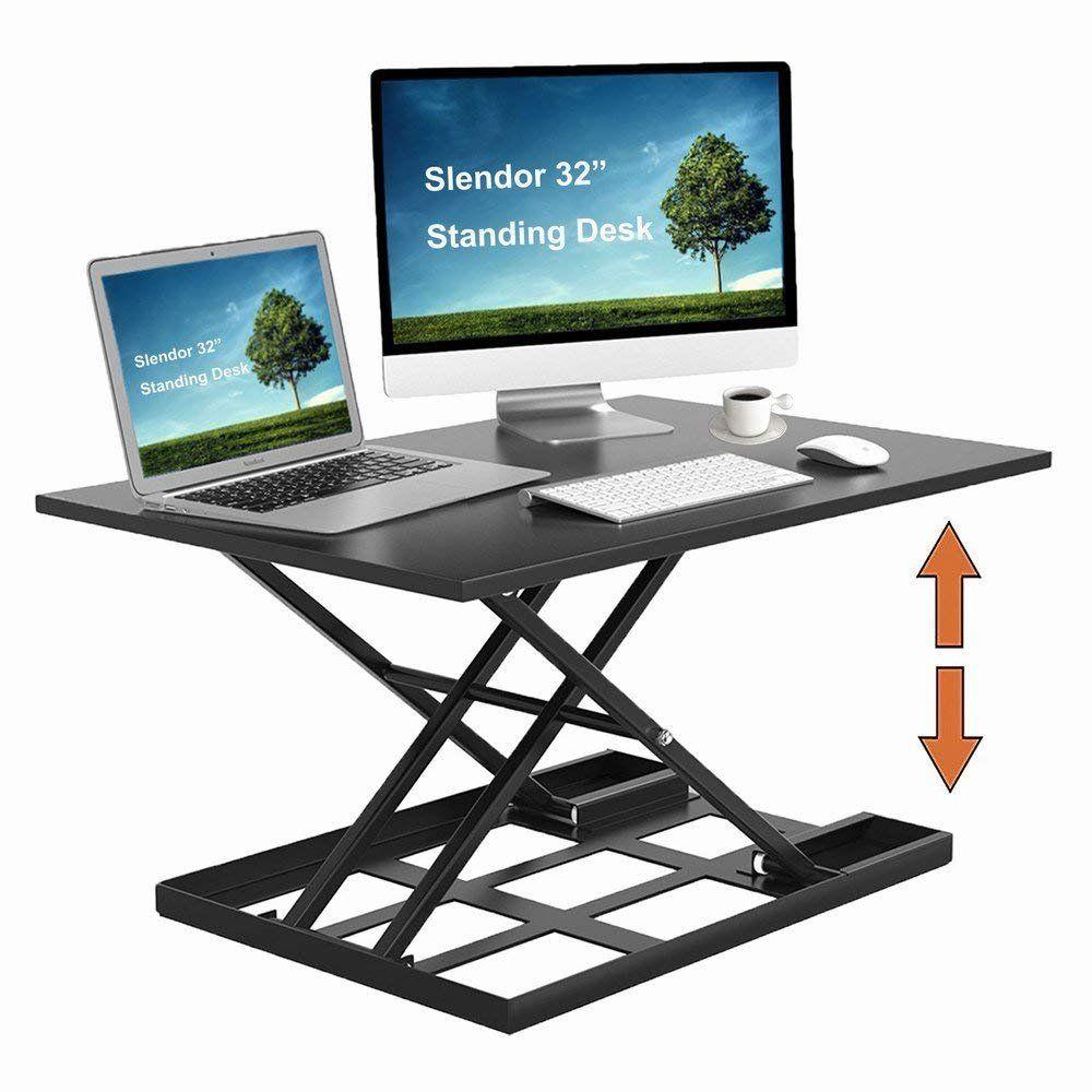 Amazon Com Standing Desk Stand Up Desks Height Adjustable 32