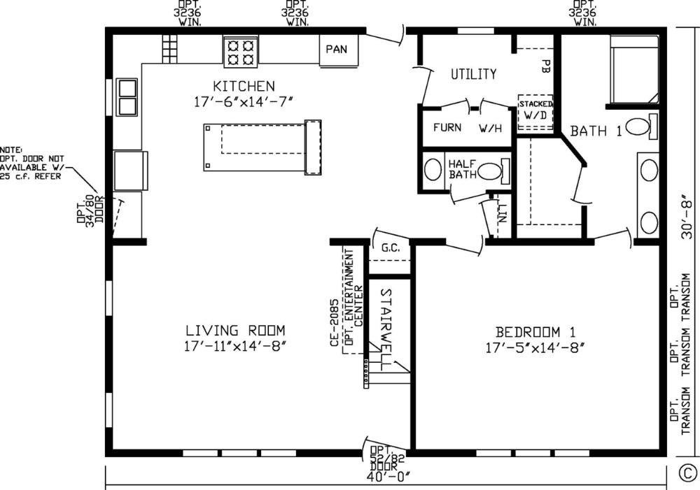 Home Newberry 99704k Kingsley Modular Floor Plan Fairmont Homes Manufactured And Modular Hom Guest House Plans Tiny House Floor Plans Cottage Floor Plans