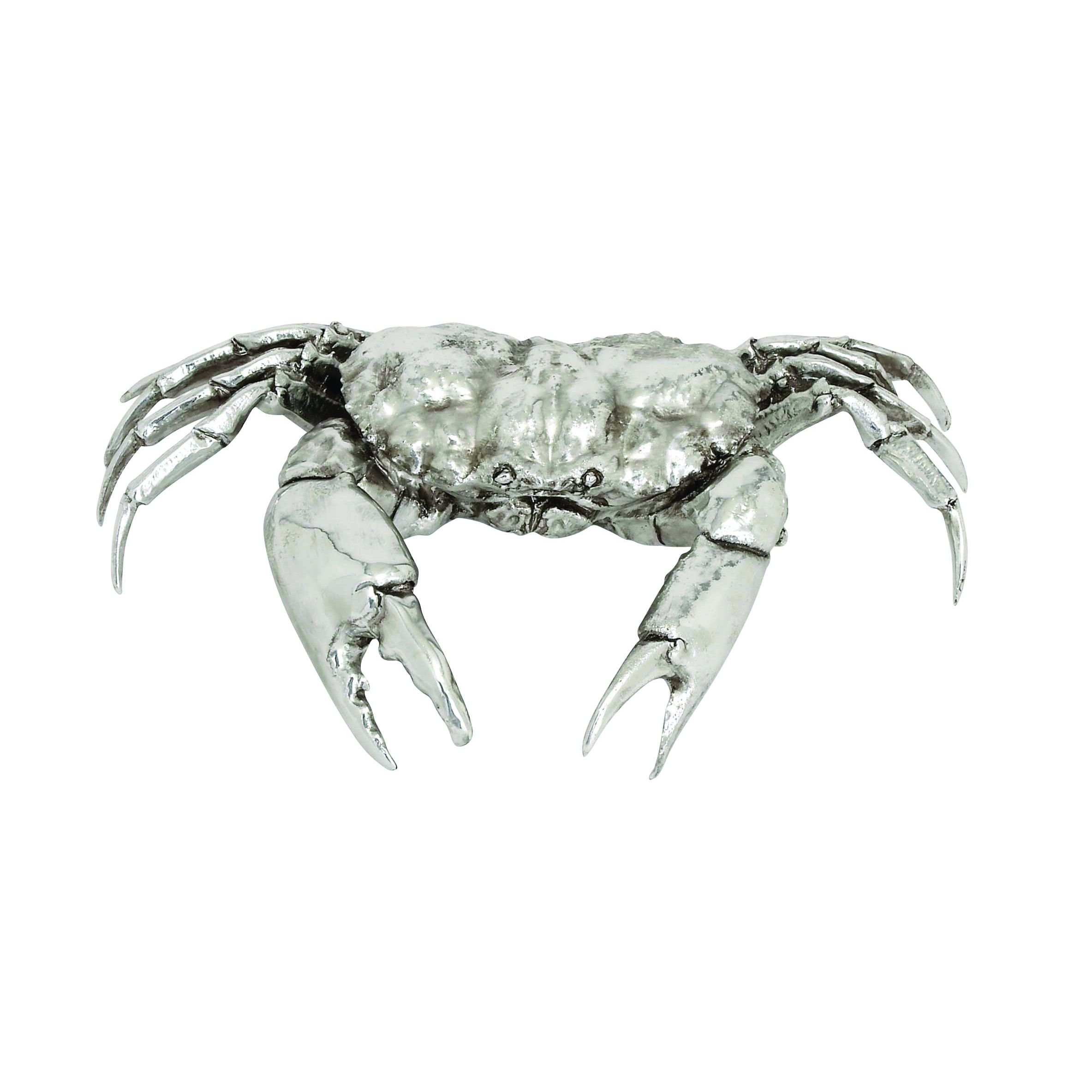 Silver Dyed Crab Home Decor