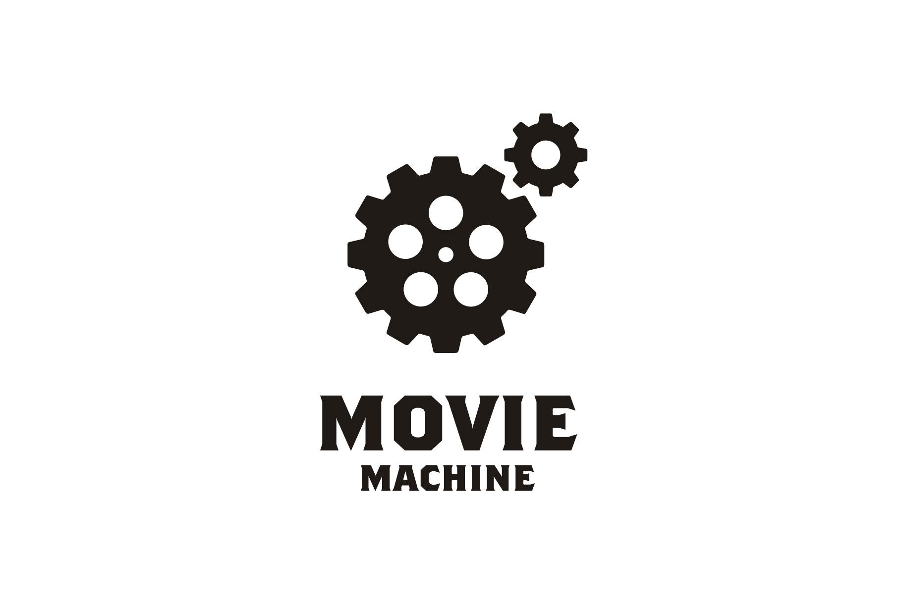 Film Reel Gears Movie Cinema Film Logo Graphic By Enola99d Creative Fabrica Film Logo Cinema Film Cinema