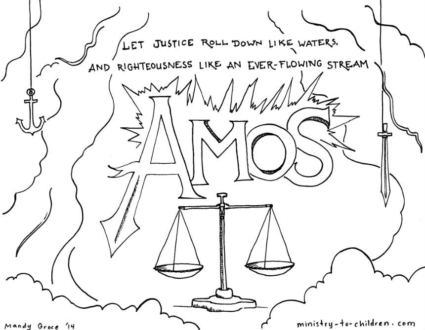 This free coloring page is based on the book of Amos. It's