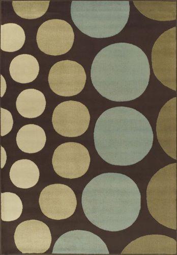 Circles Polka Dots Brown Circles Carpet 5x7 Modern Area Rug Actual 4 11 X 7 644730532242 Ebay Dalyn Rugs Dalyn Synthetic Rugs