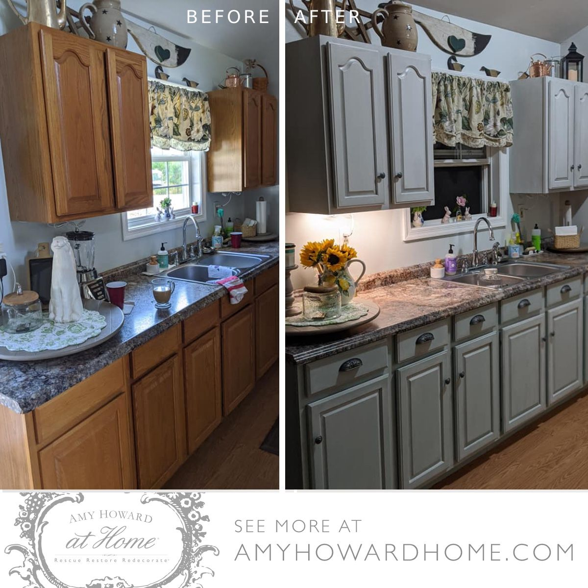 Before After Kitchen Makeover In 2020 Kitchen Makeover Refinishing Furniture Diy Before After Kitchen