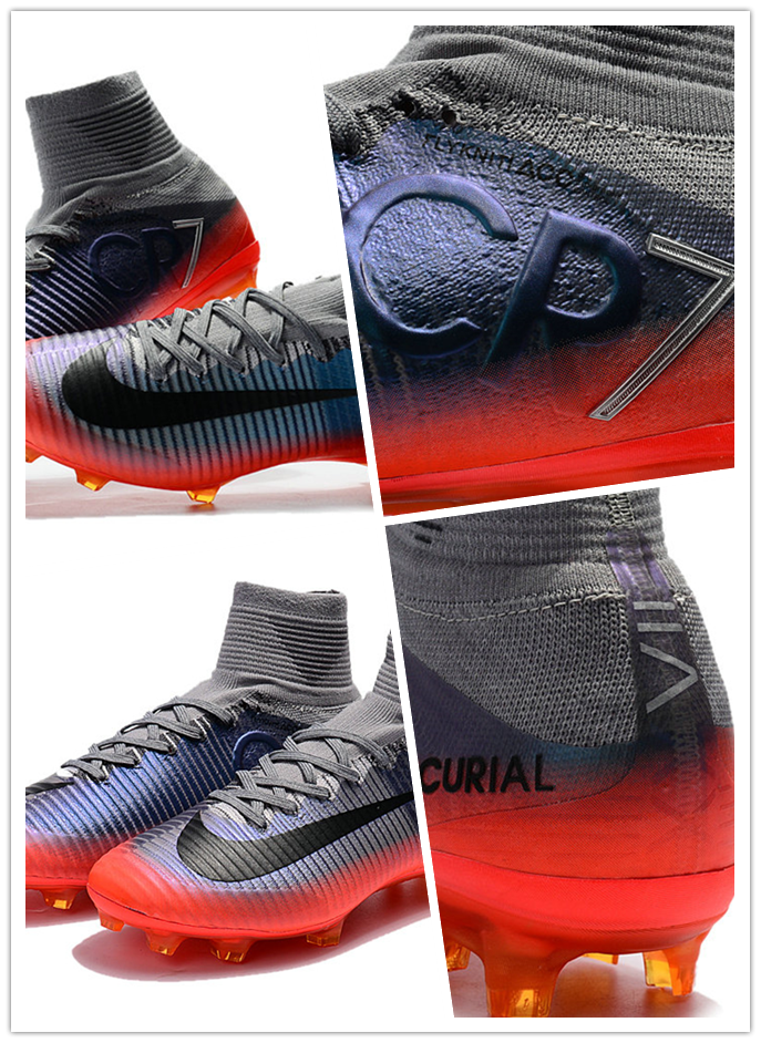 f0b761dd7 Nike Mercurial Superfly V FG Grey Metallic Hematite Weight  6.7 oz. Stud  Shape  Bladed Lacing  Integrated Ball Control Type  3D Texture Primary  Upper ...