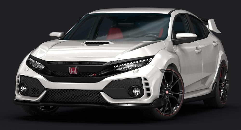 2018 Honda Civic Type R 3d Turbosquid 1197659 Honda Civic Type R Honda Civic Honda