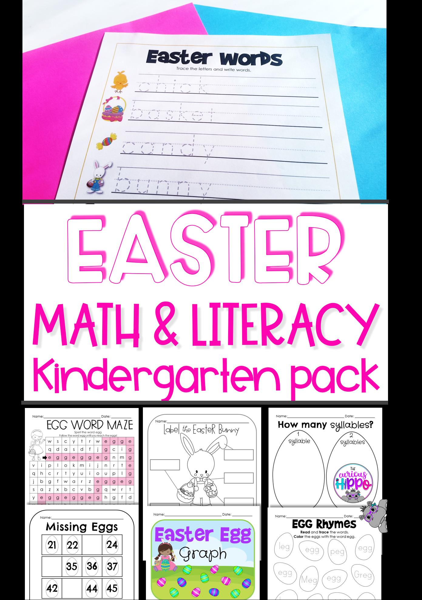 Kindergarten Activities For Easter