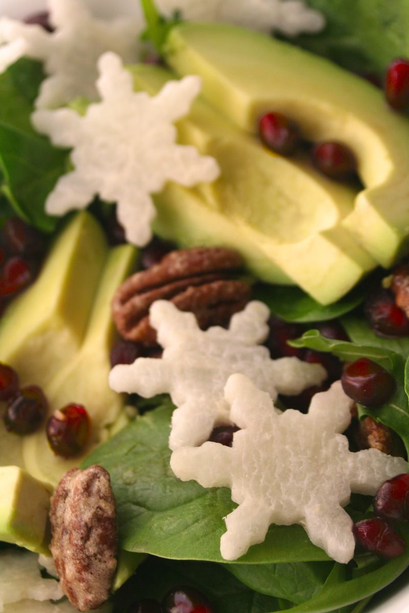 holiday snowflake salad perfect for a christmas dinner party