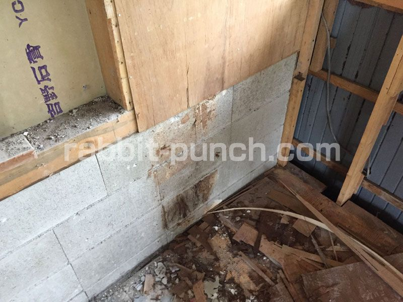 壁下地を組んで石膏ボードを貼る 梁と屋根勾配のカットが鬼門だった