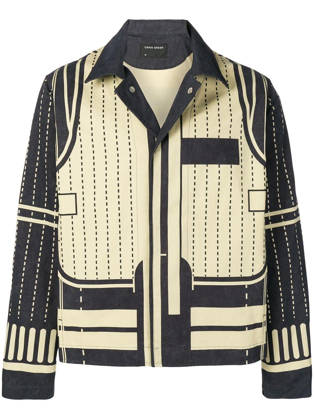 Geometric Print Shirt Jacket In Neutrals Printed Shirts Geometric Print Fashion Shirt Jacket