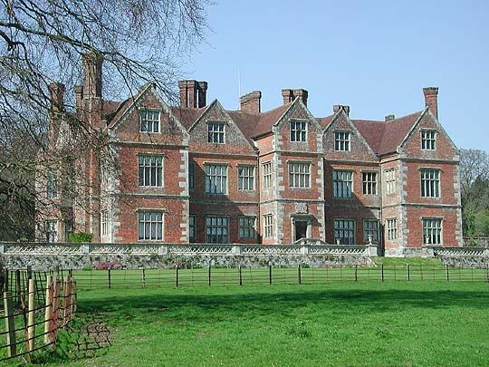 Breamore House Surrey Gabled Elizabethan Manor Of Deep Red Brick With Interiors Rebuilt In 1856