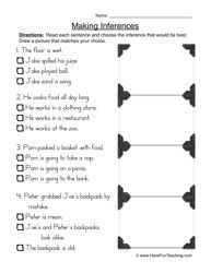 Inferences Worksheet 1 Future Educator Pinterest Inference
