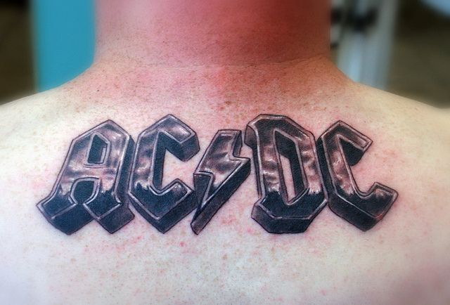 Ac Dc Tattoo I Would Get It Smaller On My Wrist Or Maybe Ankle