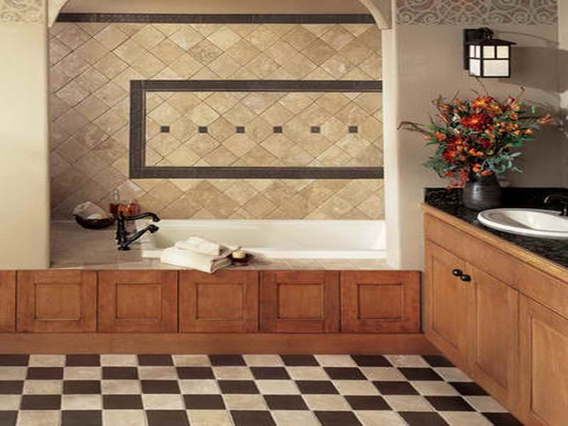 Choosing The Best Tile Designs For Bathrooms With Chess Board Design Http