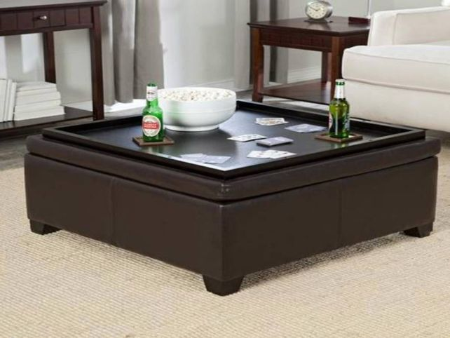 Coffee table storage · Square Ottoman Coffee Table Tray - Square Ottoman Coffee Table Tray Ottoman Coffee Table Tray
