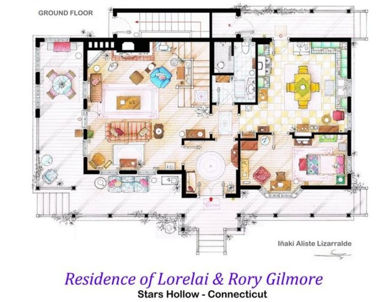 'Gilmore Girls'   13 Television Apartments From 'Friends' To 'Seinfeld' To 'Gilmore Girls' That Will Give You Total Home Envy — PHOTOS   Bustle