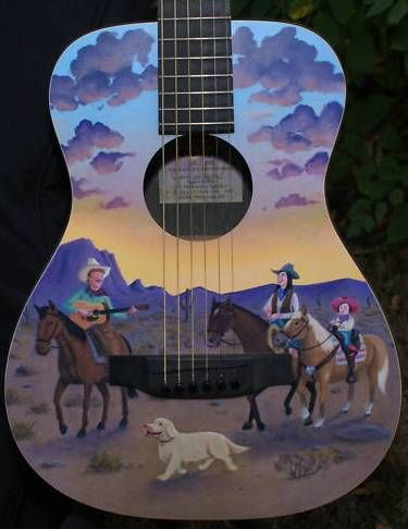 martin cowboy guitar artwork by robert armstrong git boxes ukuleles pinterest guitars. Black Bedroom Furniture Sets. Home Design Ideas