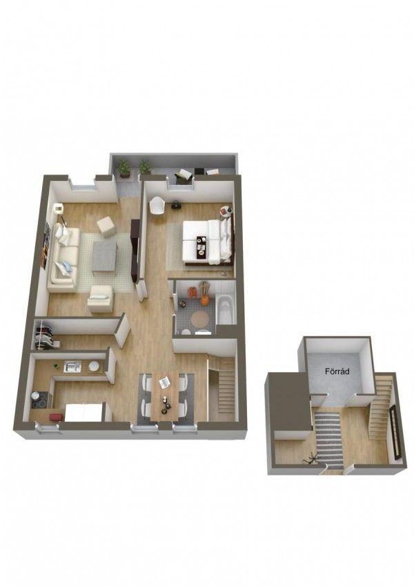 Casa Designer 3d Home Makeover App For Ipad: 40 More 1 Bedroom Home Floor Plans