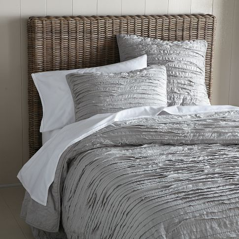 Loving these frayed edge shams for our bedroom.