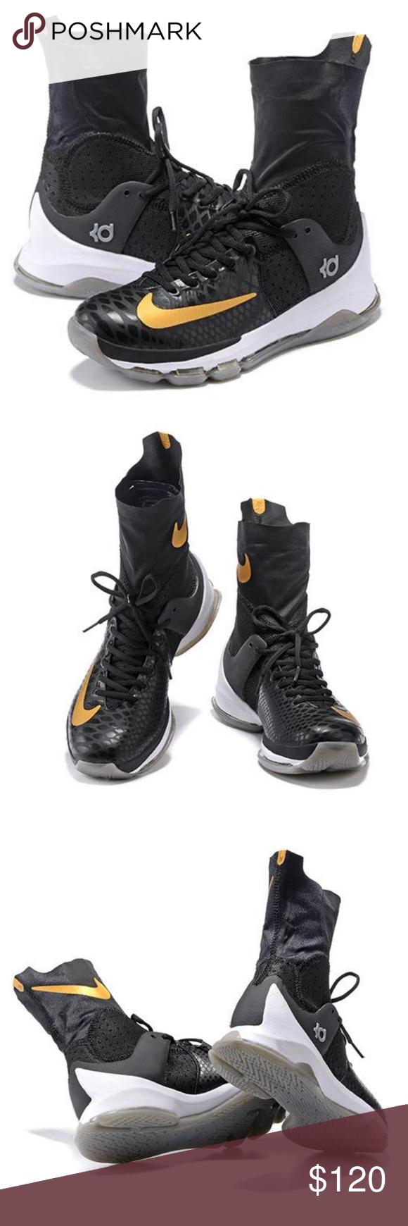 ce8959d5343a Nike KD 8 Elite VIII Away Kevin Durant Basketball Nike KD 8 Elite Black  Metallic