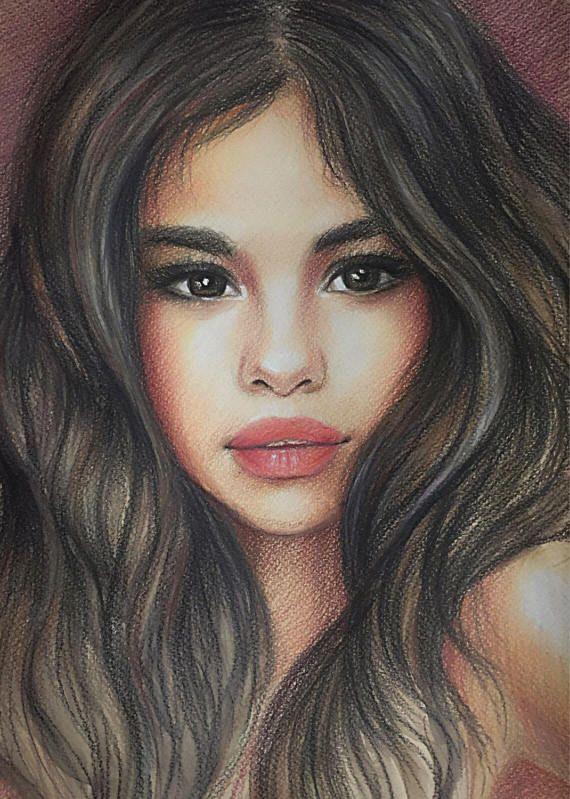 Custom Portrait Realistic Pencil Portrait Colour Pencils ...