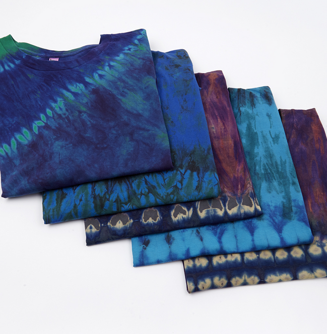 From Downtown LA to Sierra Leone—Check out our new collection of t-shirts tie-dyed by West African artisans. Fifty percent of the proceeds will go straight to the artisans.