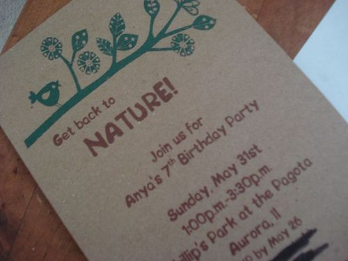 Great Ideas For A Nature Themed Party Especially The Invites My