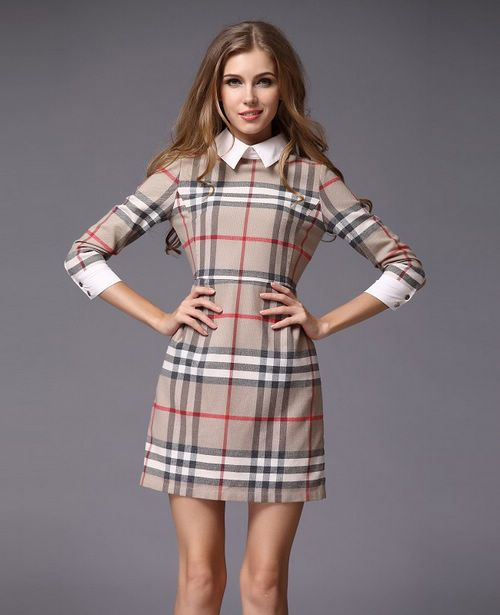 Women S Classic Plaid Shift Dress World Famous In Stock B218077b Via