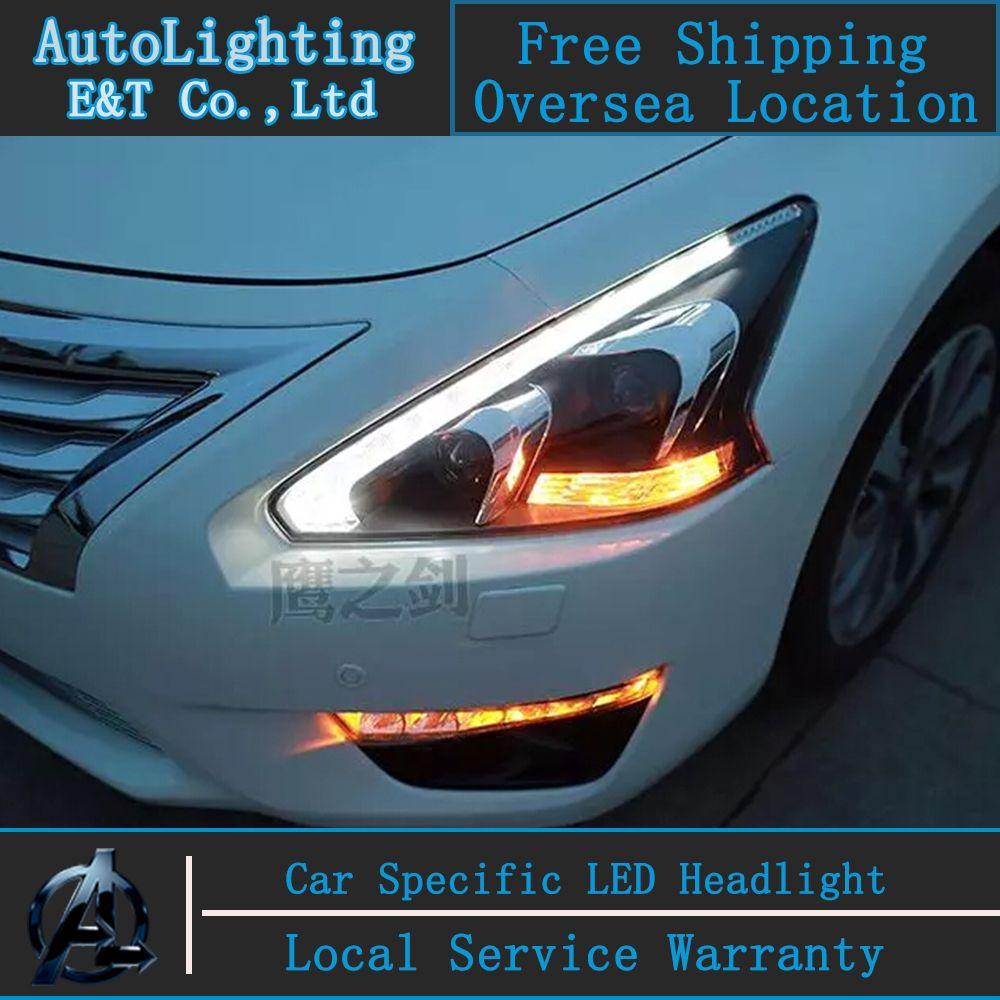 Car Styling Led Head Lamp For Teana Led Headlight 213 2014 New Altima Headlights Drl Projector Headlight H7 Hid Bi Xenon Lens Led Headlights Car Lights Car