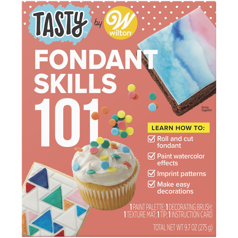Tasty By Wilton Fondant 101 Kit Walmart Com In 2020 Wilton Fondant Fondant Kit Fancy Wedding Cakes
