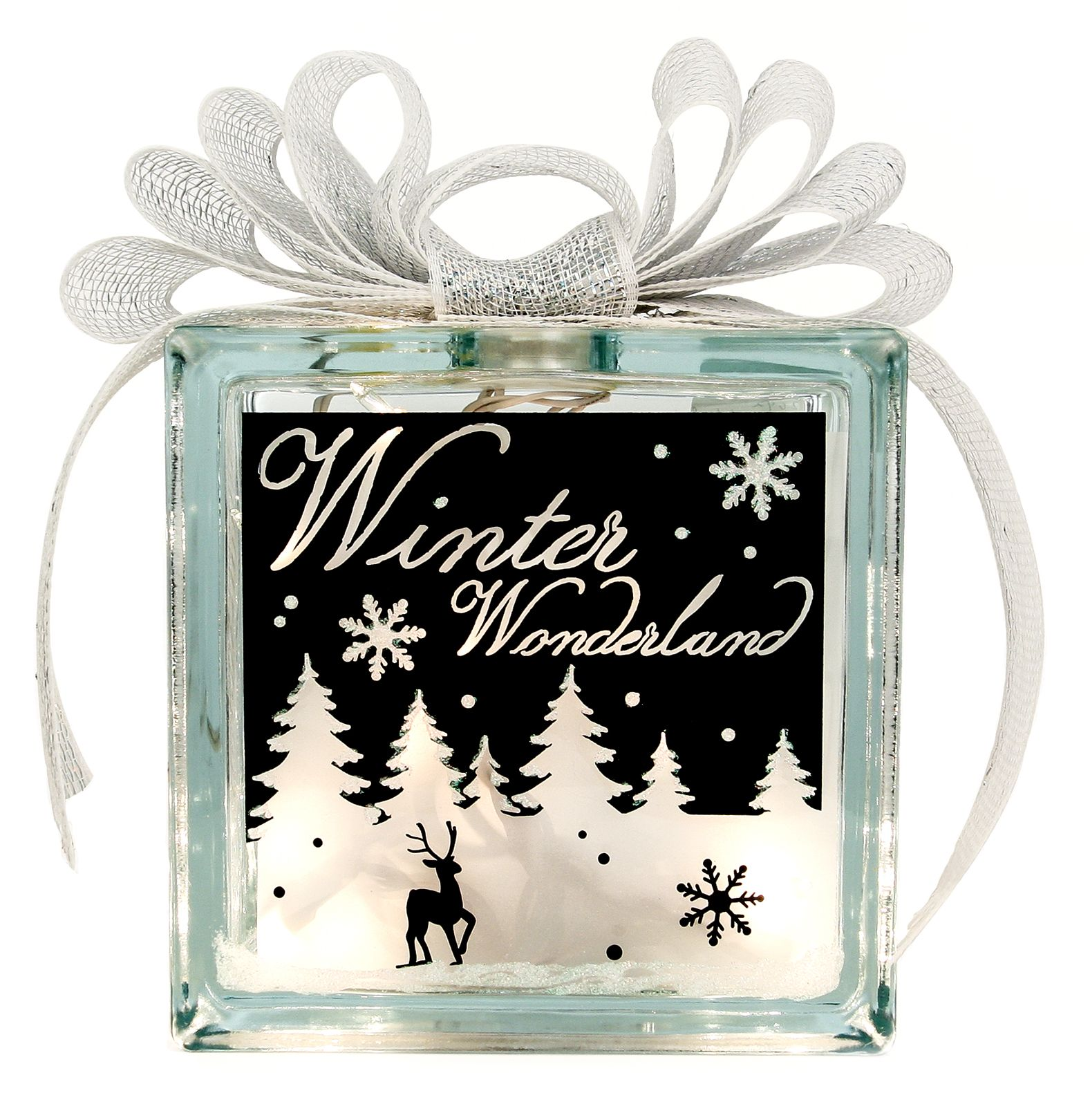 Nicole™ Crafts Winter Wonderland Glass Block #christmas #glassblock ...