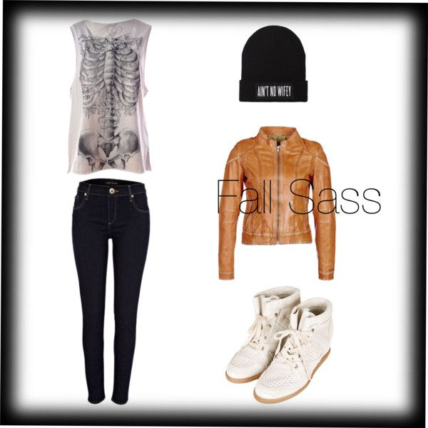 Fall Sass, good for shopping or going to get a coffee with friends the jacket dresses it up but the muscle tee, Beenie and sneakers tone it down :)