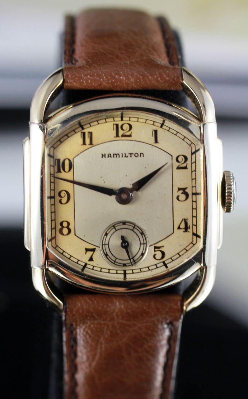 Hamilton Bagley Art Deco Watch Circa 1939 With Hamilton