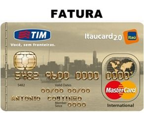 2a Via Fatura Tim Itaucard 2 0 Internacional Fatura Do Cartao Carta