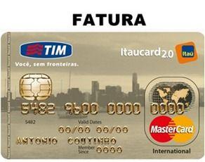 2a Via Fatura Tim Itaucard 2 0 Internacional Fatura Do Cartao Carta