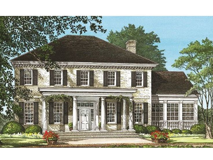 063h0082 colonial house plan with a southern twist