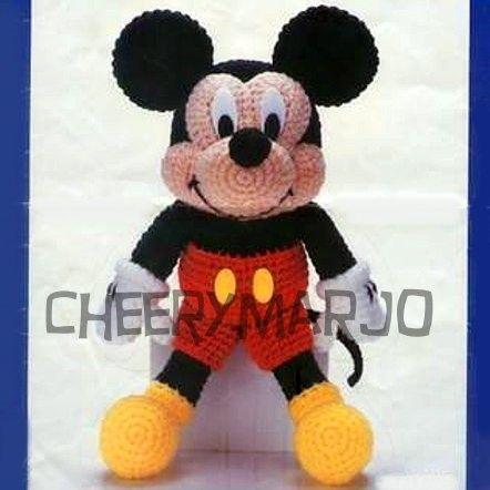 Crochet Mickey Mouse Patterns, Hat, Amigurumi | Crochet mickey ... | 442x442