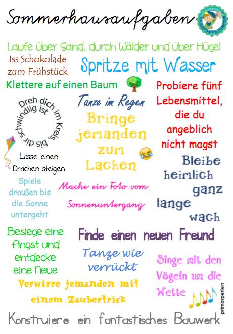 Peanut\'s peanuts: Sommer-Hausaufgaben mal anders :) | Niemiecki ...