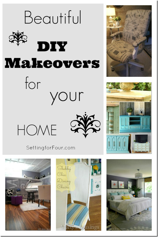 Beautiful DIY Makeovers for Your Home from Setting for Four