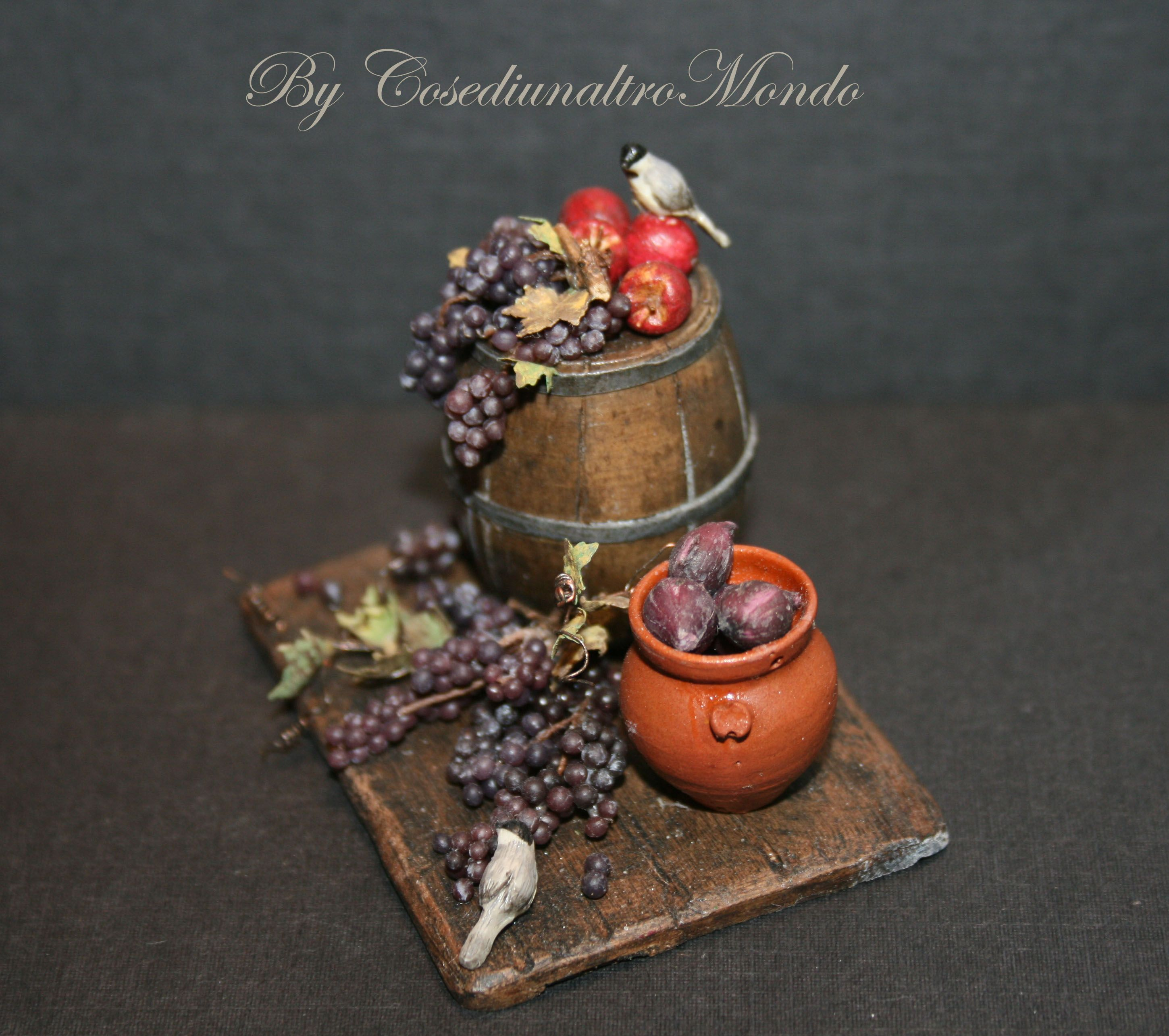 My Grapes !!! <3  Miniature handmade food scale 1/12