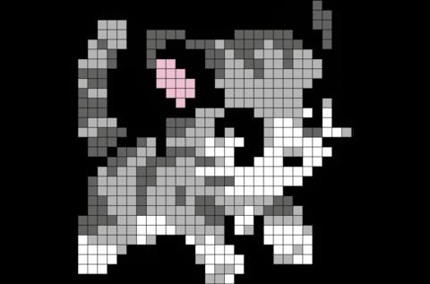 Kitten Pixel Art Pixel Art Templates Easy Pixel Art Pixel Art Pattern