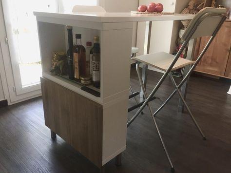 Table haute / Ilot de cuisine de Delphine L120 x l60 x h90cm