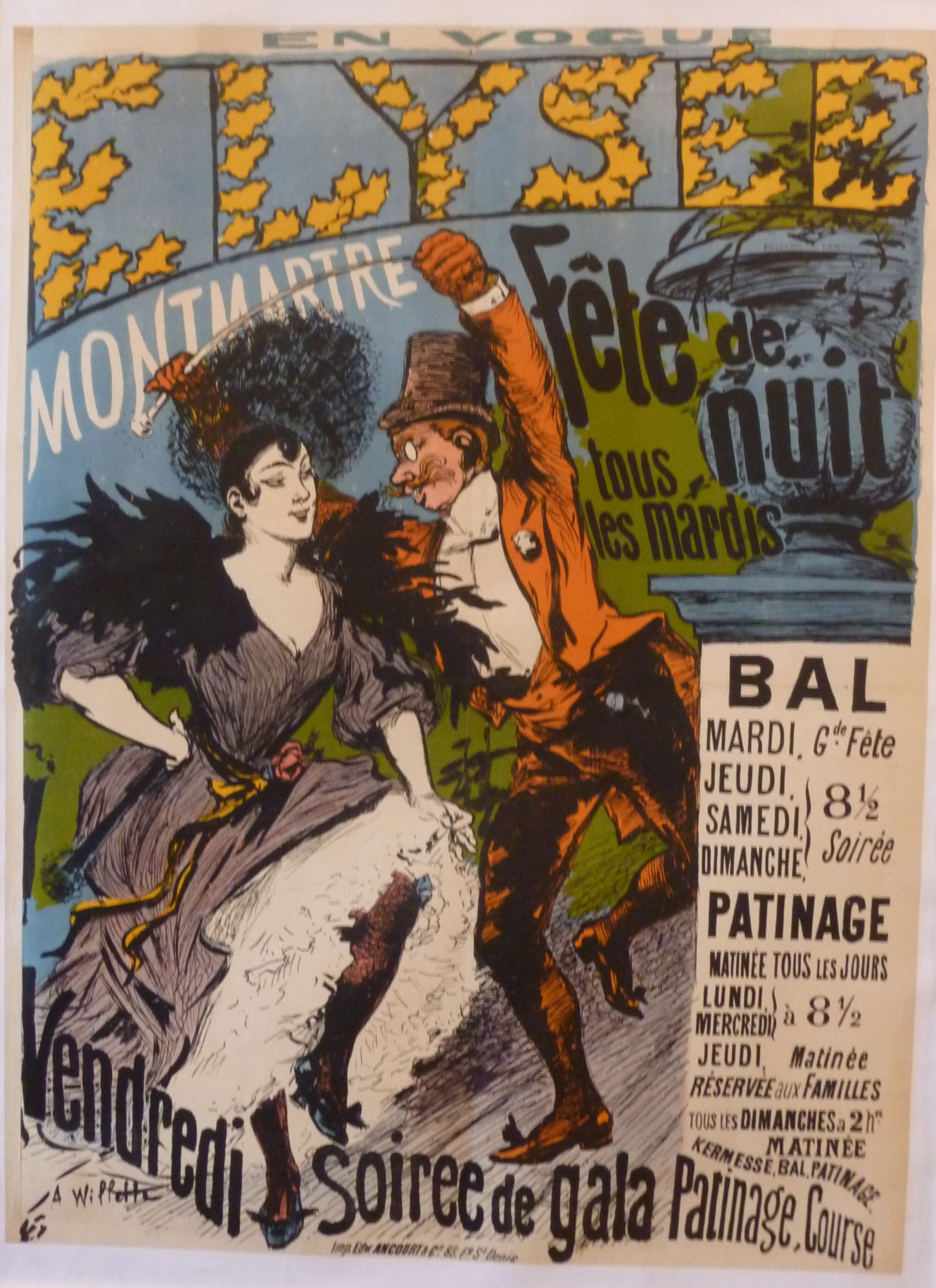 Affiche De Lelys E Montmartre De Willette