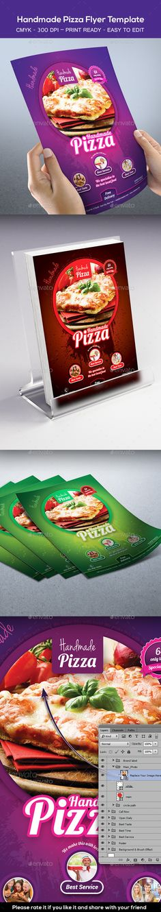 Handmade Pizza  Food Flyer Template  Pizza Food Flyer Template