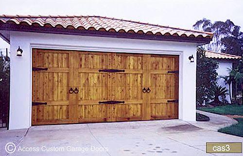Custom Wood Garage Door Stk Cedar Knotty Double Car Garage