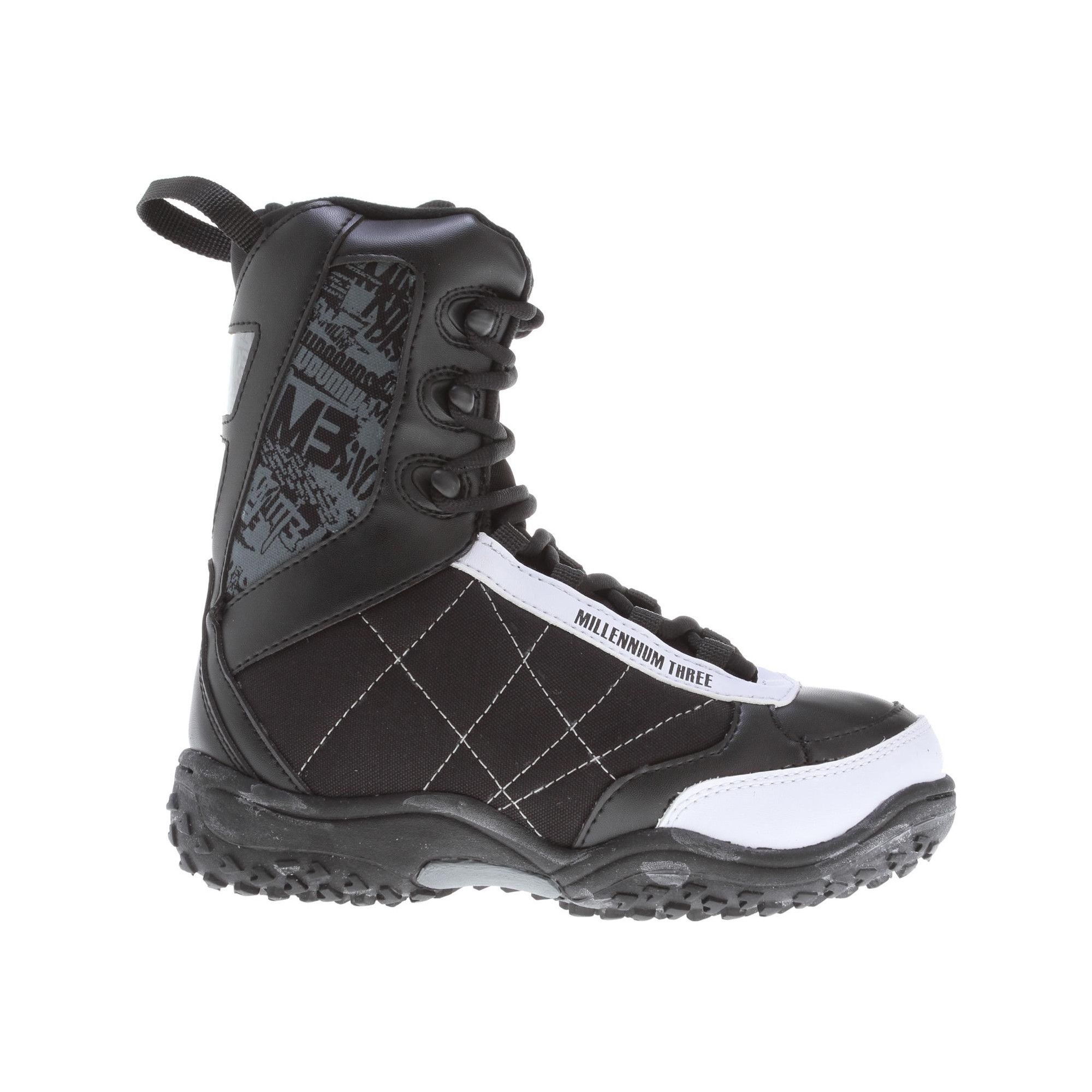 f80780c12c2c M3 Militia Jr. Snowboard Boots Black White Kids Sz 3