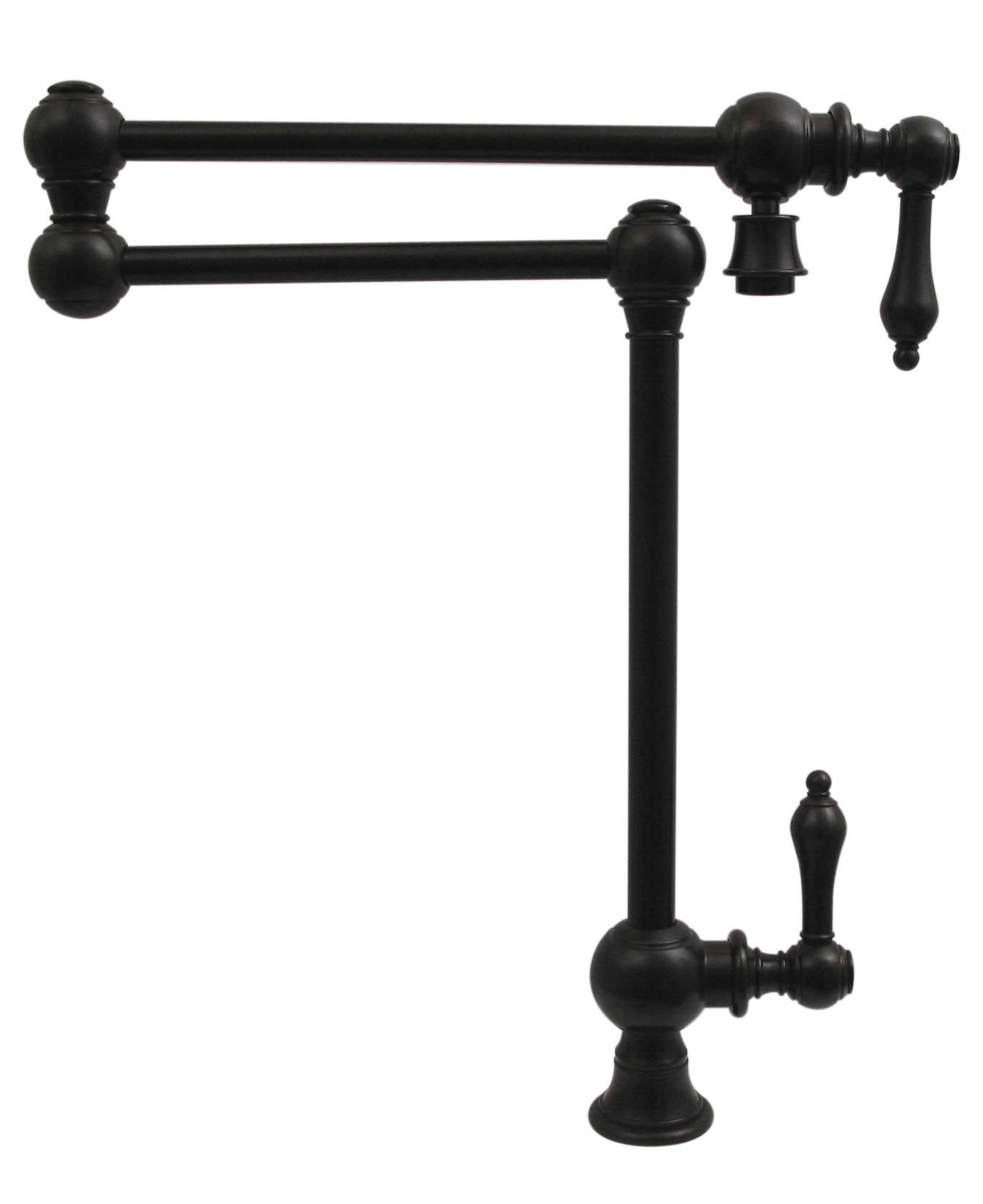 Patented Traditional Deck Mount Vintage Iii Pot Filler Faucet Whkpfdlv3 9555 With Cross Handle Shown In Oil Rubbed Bronze Whitehaus Potfiller Kitchen
