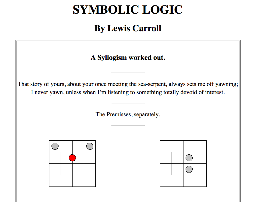 Lewis Carrolls Symbolic Logic Homeschool Math Pinterest