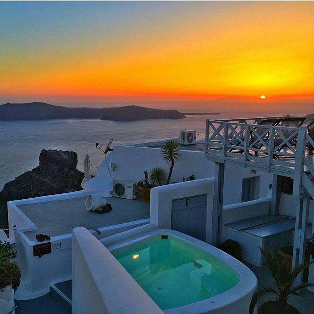 Rise & shine. Santorini, Greece. Photography by @mthiessen
